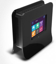 A wireless router with a touch screen. Set it up without a computer. $80.00
