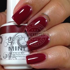 Just ordered this Gelish Hello Merlot. Cant wait to put this on for the holidays! Gelish Nail Colours, Nail Polish Colors, Gel Polish, Love Nails, How To Do Nails, Fun Nails, Gellish Nails, Gel Nagel Design, Swatch