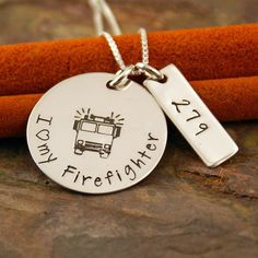Hand Stamped Jewelry  Sterling Silver