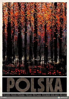 """""""Polska"""" is a poster-based graphic project by Ryszard Kaja - graphic designer and painter."""