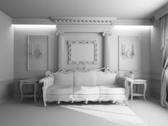 Victorian interior design ideas in white