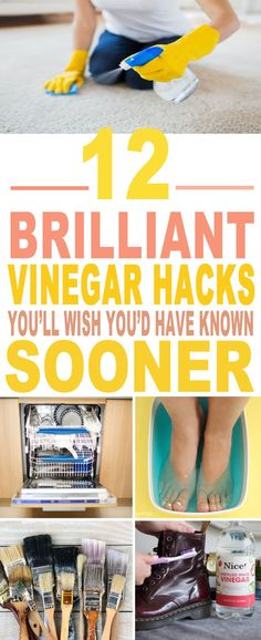 These are the BEST vinegar hacks I've ever seen!! Glad to have found these amazing vinegar tips and tricks. Definitely pinning for later!