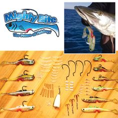 Catch your limit every time with the Mighty Bite Fishing Lures Kit, the lure that appeals to all five senses for deadly results. It's better than live bait and works on all predatory fish. #Realistic