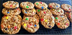 Anne Romney's M& M cookies -- I had these at a party and couldn't stop eating them (normally, I can restrain myself).  I think my friend said she added something more-- was it toffee chips, or just extra M & Ms. I think she also used peanut butter ones, plus the regular ones.    Here is the recipe:    Ann Romney's M's Cookies  MAKES 3 dozen cookies  PREP 15 minutes  BAKE at 325° for 18 minutes