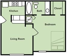 Studio Apartments Floor Plans studio apartment | floor plans | evergreen terrace apartments