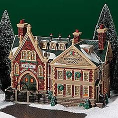 "Department 56: Products - ""Rockingham School"" - View Lighted Buildings"