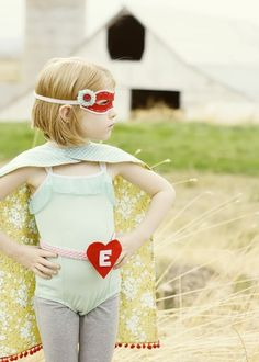 "I have been dreaming of arranging a ""kid superhero"" photoshoot exactly like this - stoked to see it in real life!."
