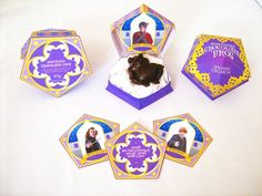Printable Honeydukes Chocolate Frog boxes with Wizard Cards