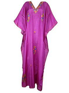Muummuu Kaftan Fuschia Paper Silk Crewel Embroidered Silk Boho Dress Abaya Kaftan Mogul Interior http://www.amazon.com/dp/B00PVRMLD6/ref=cm_sw_r_pi_dp_LI-Bub1MKCDJ7