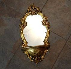Vintage Ornate Gold Mirror 1970s Hollywood Regency by TimelessTreasuresbyM on Etsy