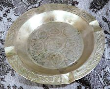 Hand Decorated Antique Islamic Silver Tray - Nupe, Nigeria BIDA Ash Tray