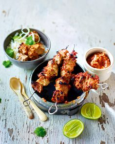 A sticky satay sauce, punchy Indonesian flavours and smoky chargrilled meat makes these pork kebabs impossible to resist.