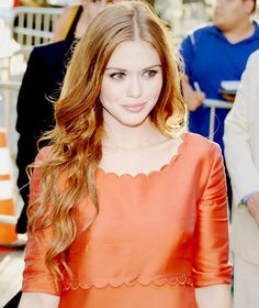 How can she even look good in orange