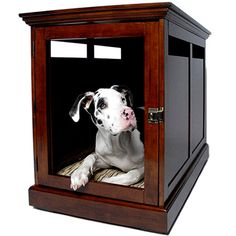 stylish pet den. I don't believe for one minute that the Dane will fit in there for very long, or maybe it's a giant piece of furniture.