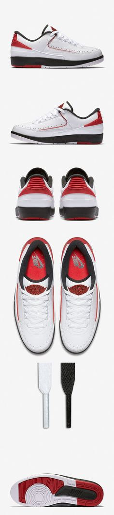 ddc3eec296bc Air Jordan 2 Retro Low Chicago - EU Kicks  Sneaker Magazine Nike Basketball  Shoes