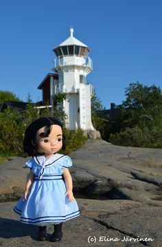 The photo is taken in beautiful Kallo, Pori (West Coast of Finland). Mulan Doll, Disney Animator Doll, Disney Dolls, Disney Animators Collection Dolls, Sailor Dress, Plushies, Doll Clothes, Harajuku, Barbie