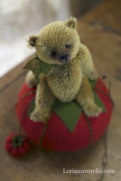 """""""Teddy on a Tomatoe"""" by: Lori Ann Corelis"""