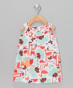 Brown & Sea Foam Safari Dress