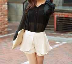 Sheer Blouse + Shorts