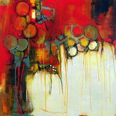 "Painting : ""Juicy Fruit"" (Original art by Janet Wayte) Contemporary Abstract Art, Modern Art, Abstract Landscape, Landscape Paintings, Contemporary Artists, Bear Art, Abstract Expressionism, Love Art, Oeuvre D'art"