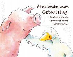 Alles Gute zum Geburtstag - Midi Cards - Grafik Werkstatt Bielefeld