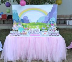 Pastel My Little Pony birthday party! See more party ideas at CatchMyParty.com!