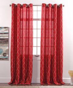 Love this Crimson Hudson Curtain Panel on #zulily! #zulilyfinds