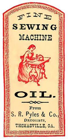 Vintage Label Image - Sewing Machine 197aad2f2bd1