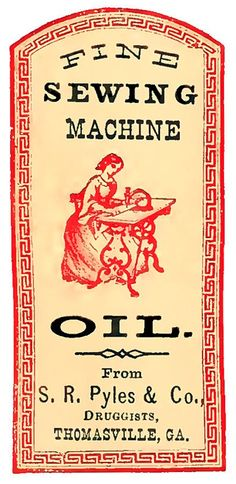 Vintage Label Image - Sewing Machine - The Graphics Fairy