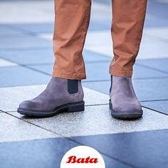 Sleeken up your style with some grey suede Chelsea boots by Bata. Bata Shoes, Men's Shoes, Grey Suede Chelsea Boots, Shoe Collection, Moccasins, Your Style, Oxford, Loafers, Sneakers