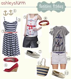 I really love Nautical clothing and dresses, but i love all kinds of clothes as well!