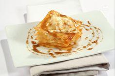 Ricetta Millefoglie di pasta fillo con pere e brie - Le Ricette di GialloZafferano.it