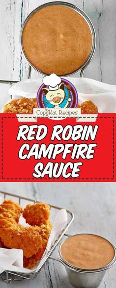 How to make Red Robin Campfire Sauce at home in a matter of minutes with this easy copycat recipe. It's perfect for chicken tenders, french fries, burgers, and so much more. Food Recipes For Dinner, Food Recipes Deserts Copykat Recipes, Sauce Recipes, Gourmet Recipes, Cooking Recipes, Gourmet Desserts, Plated Desserts, Vegetarian Recipes, Dinner Recipes, Red Robin Campfire Sauce