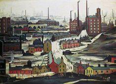 Industrial Landscape, Ashton-under-Lyne LS Lowry 1952