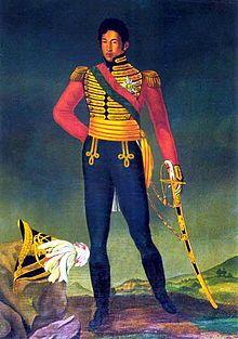 Portrait du roi Radama Ier.