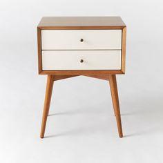 mid century modern bedside table. Mid-Century Nightstand - White + Acorn Mid Century Modern Bedside Table U