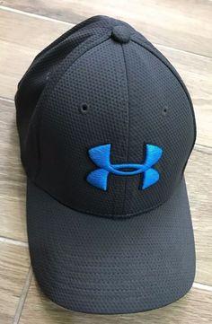 UNDER ARMOUR UA NEW Hat Cap Men's Blitzing Baseball Stretch Flex Fit Gray Azure #UnderArmour #1254123