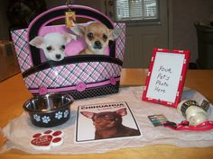 Chihuahua Gift Set with Gift Bag by smoyercathy on Etsy https://www.etsy.com/listing/246176926/chihuahua-gift-set-with-gift-bag
