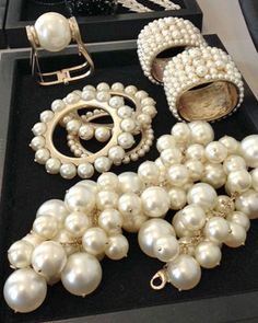 Chanel Pearl Jewelry  - Spring 2013 | More here: http://mylusciouslife.com/photo-galleries/bling-fling/