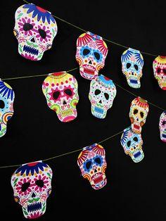 Ohoh Blog - diy and crafts: Halloween calavera skull garland
