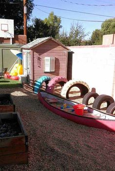 An old boat playground for kids. 15 Clever Ideas For Reuse Boats