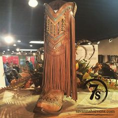 The Tyndalls – embroidered and embelished fringe snip toe cowboy boots from Savannah Sevens Western Chic