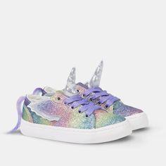 Zapatillas de Niña Unicornio Glitter Multicolor Mermaid Theme Birthday, Ballerina Birthday Parties, Disney Princess Birthday, Unicorn Fashion, Unicorn Outfit, Girls Sneakers, Girls Shoes, Baby Shoes, Unicorn Bedroom Decor
