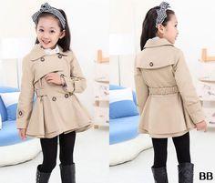 1 unid niños del otoño del resorte chaquetas moda doble de pecho chicas Trench Coat AZZ2536 en Chaquetas y Abrigos de Bebés en AliExpress.com | Alibaba Group
