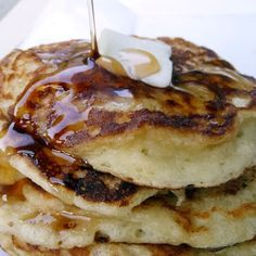 Greek Yogurt Pancakes @keyingredient     These are great pancakes!!  I made them gluten-free by substituting brown rice flour for the regular flour and added 1/4 t xanthan gum.