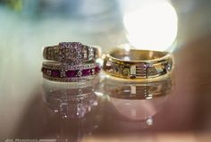 Unique vintage wedding rings!