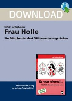 Frau Holle - Ein Märchen in drei Differenzierungsstufen Jigsaw Puzzle, Today Pictures, Prayer Cards, Small Gifts, Fairy Tales, Finding Yourself, Differentiation, Little Gifts, Stocking Stuffers
