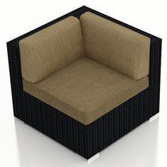 Urbana Corner Section Chair with Cushion | Wayfair.ca