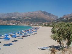 This endless beach is located in Plakias, a village in south Rethimnon Crete Island, Travel Destinations Beach, Heraklion, Crete Greece, Crystal Clear Water, Greece Travel, Greek Islands, Beach Trip, Night Life