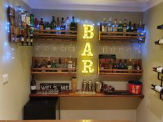Mini Bar At Home, Diy Home Bar, Home Bar Decor, Diy Bar, In Home Bar Ideas, Home Bars, Small Bars For Home, Home Bar Rooms, Home Bar Sets